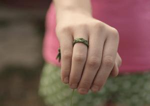 braided grass ring