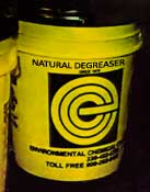 Natural Degreaser - Environmental Chemical Corporation