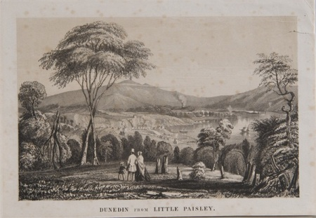 "Figure 4: Edward Immyns Abbott, 'Dunedin from Little Paisley"", 1849, ourheritage.ac.nz OUR Heritage , accessed February 4, 2014, http://otago.ourheritage.ac.nz/items/show/5143"