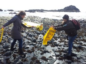 Meagan and Hannah in the tide pools having a little fun.( Photo by Samantha Starns)