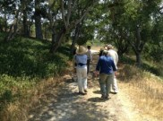 Hugo and I leading the tour through the oak woodlands