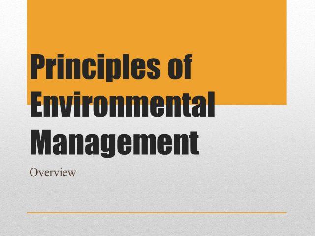 7 Principles of Environmental Management