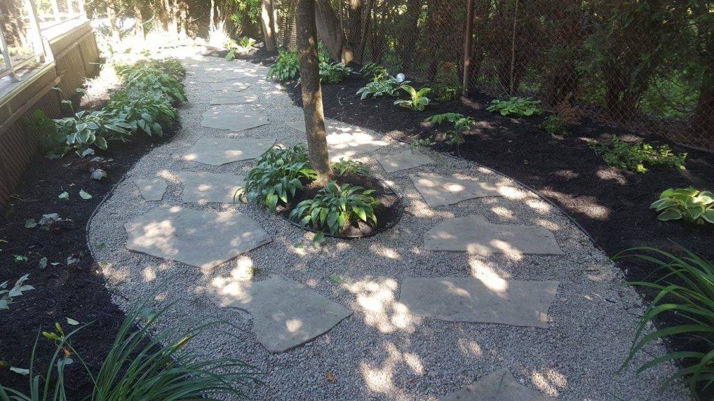 Re-level of flagstone walkway