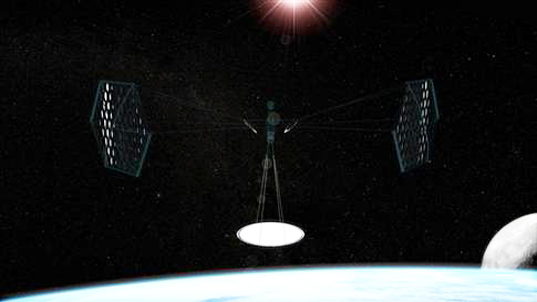 The proposed Solar Space Station in action