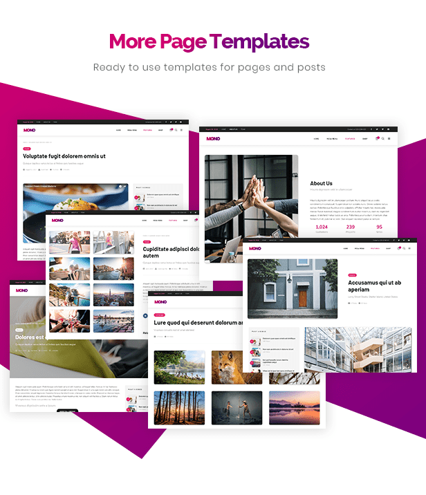 More Page Templates