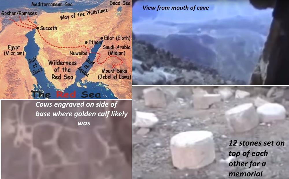 Mt Sinai Found in Saudi Arabia Arabia in Bible The top of the