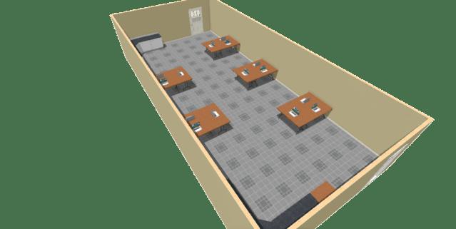 VR classroom setup