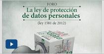 Foro La ley de protección de datos personales