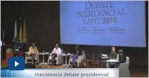 Sillas vacías en debate presidencial 2014