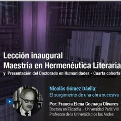 Nicolás Gómez Dávila: El surgimiento de una obra sucesiva
