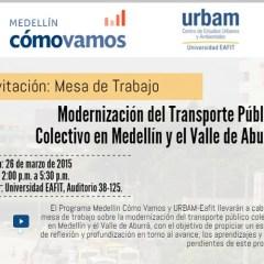 Modernización del transporte público colectivo en Medellín y el Valle de Aburrá