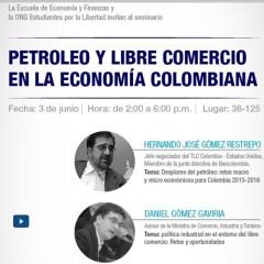 Seminario Petróleo y libre comercio en la Economía Colombiana