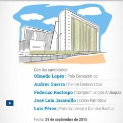 Debate con los Candidatos a la Gobernacion de Antioquia 2015