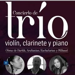 Concierto de trío. Violín, clarinete y piano