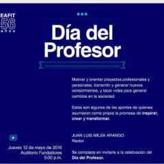 Celebración del Día del Profesor 2016