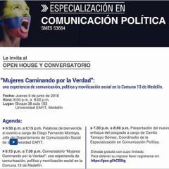 """Open House y conversatorio: """"Mujeres Caminando por la Verdad"""""""