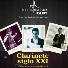 IV Concierto de Temporada 2016. Clarinete siglo XXI