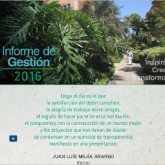 Presentación del Informe de Gestión 2016