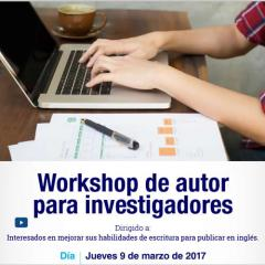 Workshop de autor para investigadores