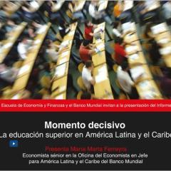 Momento decisivo: la educación superior en América Latina y el Caribe