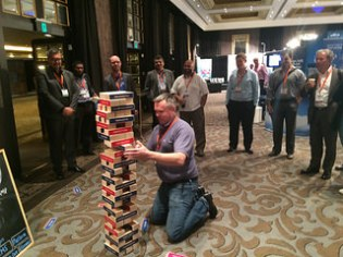 Games like Jenga bring in crowds naturally