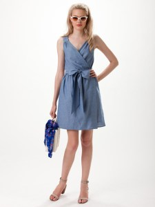 leona denim dress