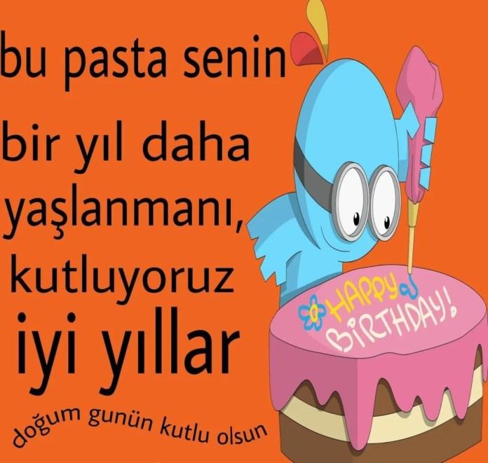 bu pasta senin bir yıl daha yaşlanmanı - Doğum Günün Kutlu Olsun Sözleri - Resimli Doğum Günü Mesajları, dogum-gunu-mesajlari