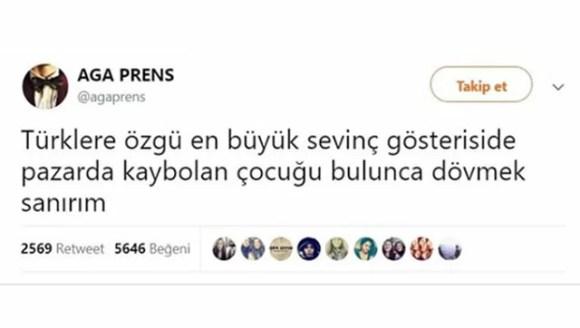 Türklere özgü en büyük sevinç gösteriside pazarda kaybolan çocuğu bulunca dövmek sanırım - Resimli Komik Twitter Paylaşımları - En Yeni Komik Tweetler, twitter-sozleri
