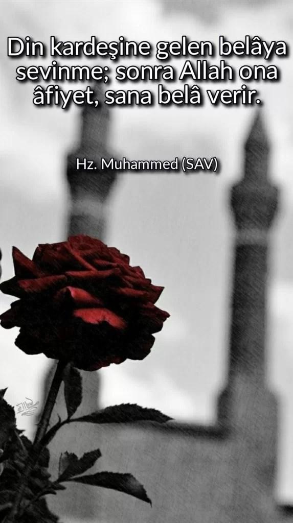 Din kardeşine gelen belaya sevinme sonra Allah ona afiyetsana bela verir 573x1024 - Resimli Hz Muhammed (SAV) Sözleri - İslam Peygamberi Hz Muhammed Sözleri,Hz Muhammed Hadisleri, guzel-mesajlar, dini-sozler