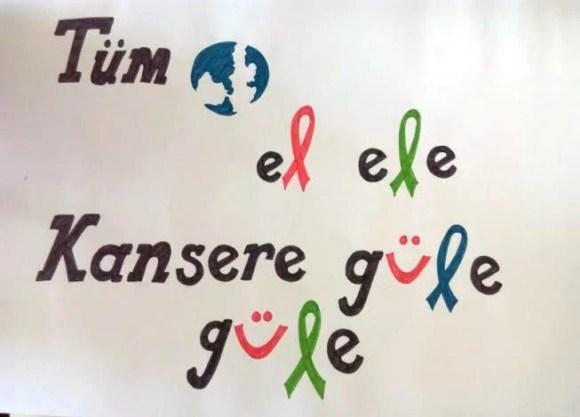 Tüm dünya el ele kanser güle güle - Kanser İle İlgili Resimli Sözler - 4 Şubat Dünya Kanser Günü, resimli-sozler, guzel-mesajlar, anlamli-sozler