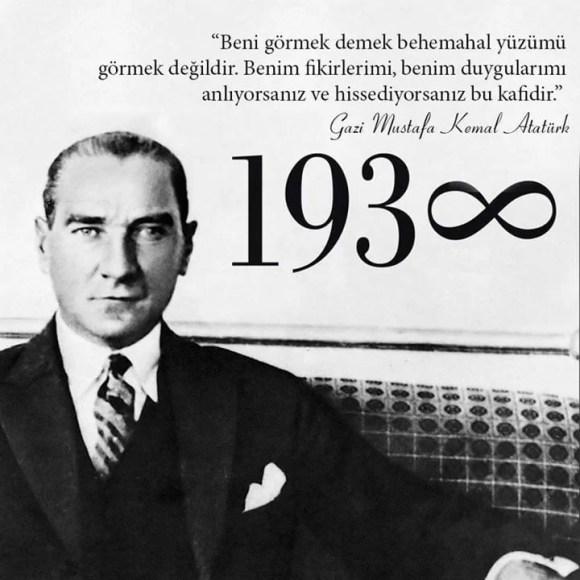 Beni görmek demek behemahal yüzümü görmek değildir. Benim fikirlerimi benim duygularımı anlıyorsanız ve hissediyorsanız bu kafidir. Mustafa Kemal Atatürk - Mustafa Kemal Atatürk Resimli Sözler - Atatürk Sözleri Ve Fotoğraf Arşivi, unlu-sozleri, guzel-sozler
