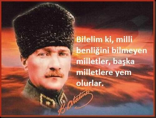 Bilelim ki milli benliğini bilmeyen milletler başka milletlere yem olurlar. Mustafa Kemal Atatürk - Mustafa Kemal Atatürk Resimli Sözler - Atatürk Sözleri Ve Fotoğraf Arşivi, unlu-sozleri, guzel-sozler