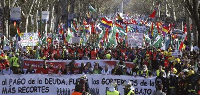 «Πορείες για την αξιοπρέπεια» στη Μαδρίτη