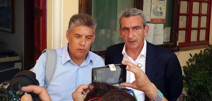 Σύσκεψη για το μεταναστευτικό Κ. Αγοραστού και Γ. Χατζημάρκου