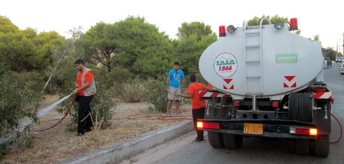 O ΣΠΑΠ στο 2ο Εθελοντικό Πότισμα του Δήμου Βριλησσίων στο δάσος Αγίου Θεοκλήτου