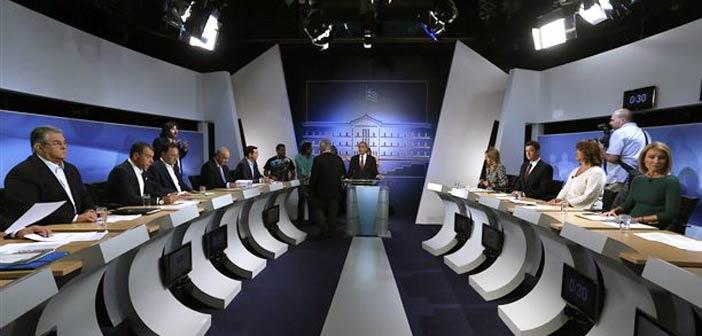 Τα κυριότερα σημεία της τηλεοπτικής αναμέτρησης των πολιτικών αρχηγών