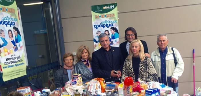 Δήμος και Εμπορικός Σύλλογος κάλυψαν τις ανάγκες 50 οικογενειών σε τρόφιμα