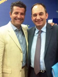Ο Σωτ. Ησαΐας με τον νέο μεταβατικό πρόεδρο της Ν.Δ., Γ. Πλακιωτάκη.
