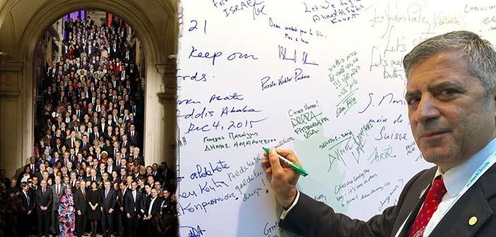 Τη Διακήρυξη των Πόλεων για το Κλίμα υπέγραψε ο πρόεδρος της ΚΕΔΕ