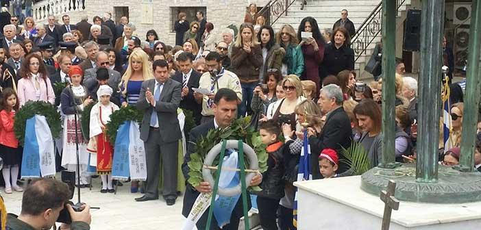 Στην Πεύκη γιόρτασε την 25η Μαρτίου ο αντιπεριφερειάρχης Γ. Καραμέρος