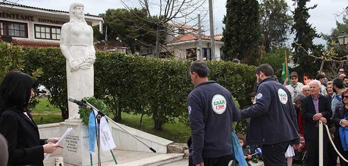 Κατάθεση στεφάνου για την 25η Μαρτίου από τον ΣΠΑΠ, στη Ν. Πεντέλη