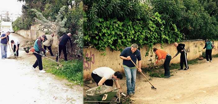 Οι εθελοντές Περιβάλλοντος – Καθαριότητος καθάρισαν χώρο στον Τσακό