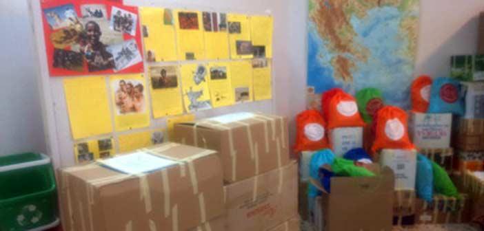 Ολοκληρώθηκε η συγκέντρωση ειδών για παιδιά προσφύγων από το 9ο Δημοτικό