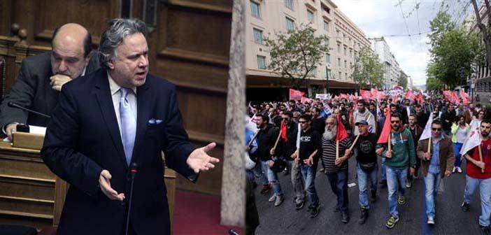 Στη Βουλή νομοθετούν, στους δρόμους απεργούν!