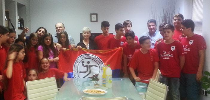 Πρωταθλήτριες ομάδες του Συλλόγου Ν. Βριλησσίων συνεχάρη ο δήμαρχος