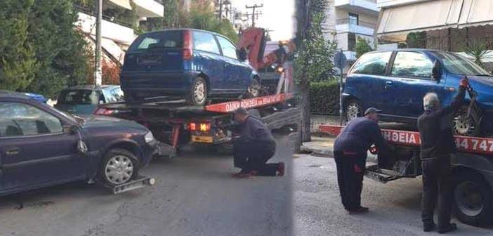 Απομάκρυνση εγκαταλελειμμένων οχημάτων από την Αγ. Παρασκευή