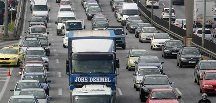 Κυκλοφοριακό κομφούζιο στην Ε.Ο. Αθηνών-Λαμίας στη Λυκόβρυση