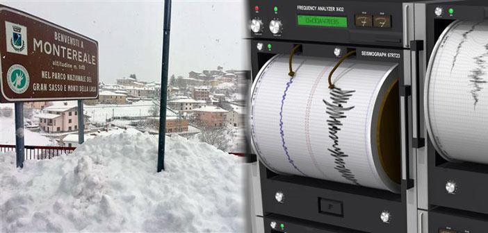 Τρέμει ξανά η κεντρική Ιταλία, μέσα σε βαρύ χιονιά