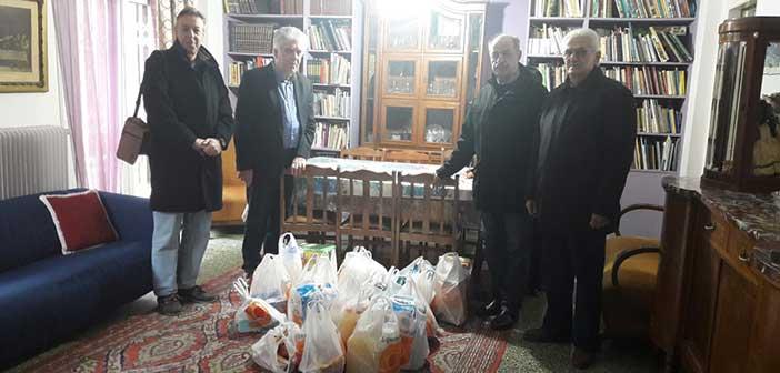 Αγία Παρασκευή η Πόλη μας: Προσφορά τροφίμων στην Εστία «Αγ. Φιλοθέη»