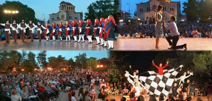 Κέφι και χορός στην κεντρική πλατεία Αγ. Παρασκευής